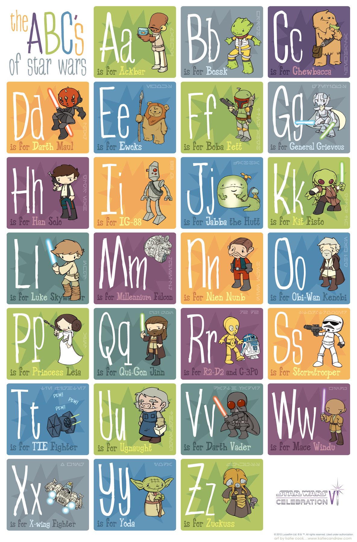 Favorit katiecandraw.com: katie can draw the star wars alphabet MX88