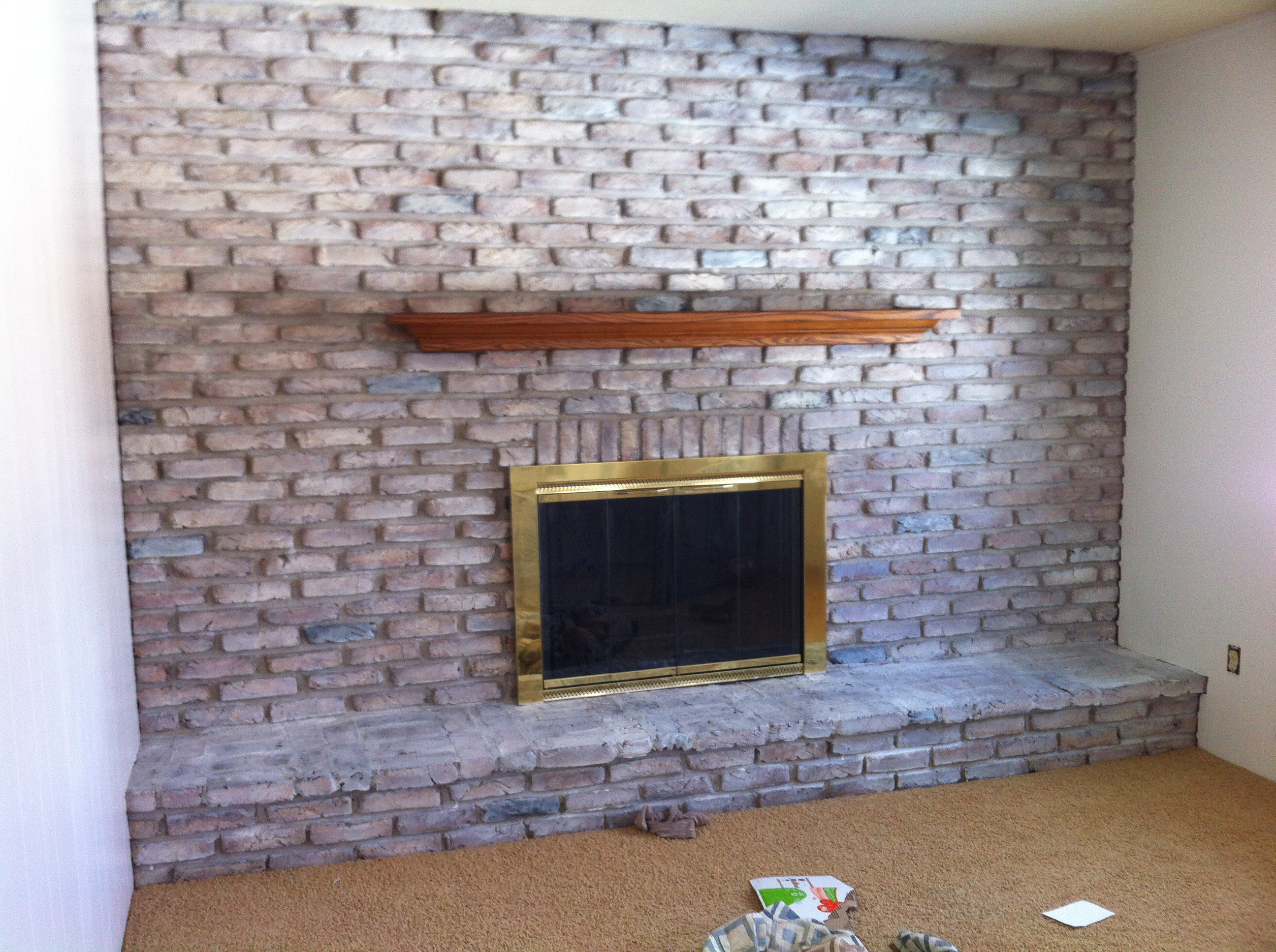 katiecandraw com whitewashed fireplace tutorial